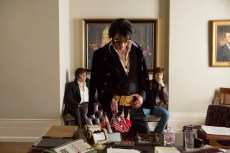 Michael Shannon stars as Elvis Presley (center) with Johnny Knoxville as Sonny (left) and Alex Pettyfer as Jerry Schilling (right) in Liza Johnson's ELVIS & NIXON, an Amazon Studios / Bleecker Street release.