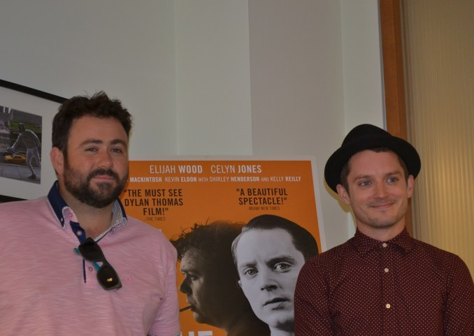 Celyi Jones and Elijah Wood. Roundtable interview for Set Fire  To The Stars. Photo by Liz Whittemore