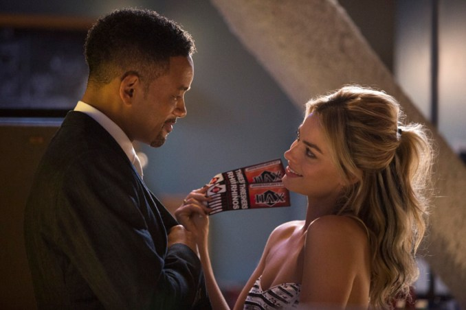 """(L-r) WILL SMITH stars as Nicky and MARGOT ROBBIE as Jess in Warner Bros. Pictures' """"FOCUS.""""  Distributed by Warner Bros. Pictures, a Warner Bros. Entertainment Company. Photo by Frank Masi"""