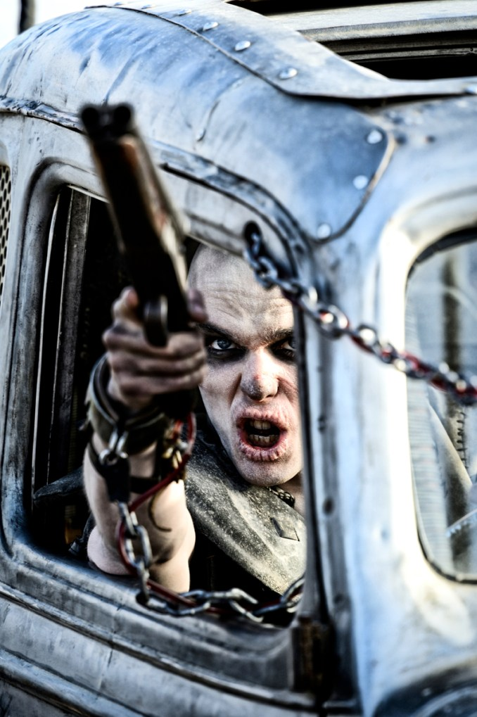 """NICHOLAS HOULT as Nux in Warner Bros. Pictures' and Village Roadshow Pictures' action adventure """"MAD MAX: FURY ROAD,"""" a Warner Bros. Pictures release. Photo by Jasin Boland"""