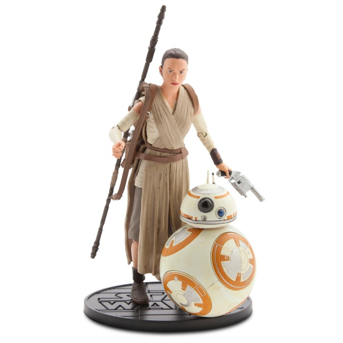 CAPTION: Star Wars Elite Series Die Cast Action Figures..Available at Disney Store September 4th..SRP: $24.95 each..Introducing the Star Wars Elite Series by Disney Store, a new line of highly articulated and detailed die cast action figures. Figures included in the initial launch include the highly trained warrior Finn; the resilient survivor Rey and cylindrical droid BB-8; the First Order loyalist Captain Phasma; and the dark warrior Kylo Ren. Add these die cast figures to your collection for epic adventures anywhere...