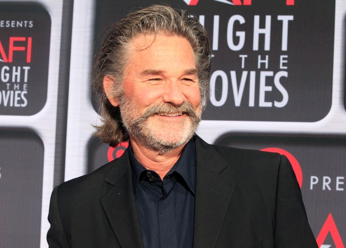 Actor Kurt Russell poses as he arrives at Target Presents AFI Night at the Movies in Hollywood
