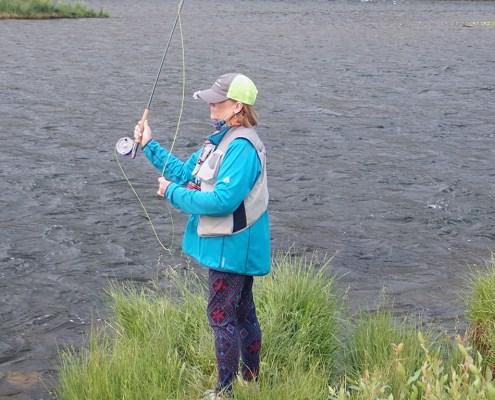 Reel Women Fly Fishing Adventures Madison River Montana casting practice
