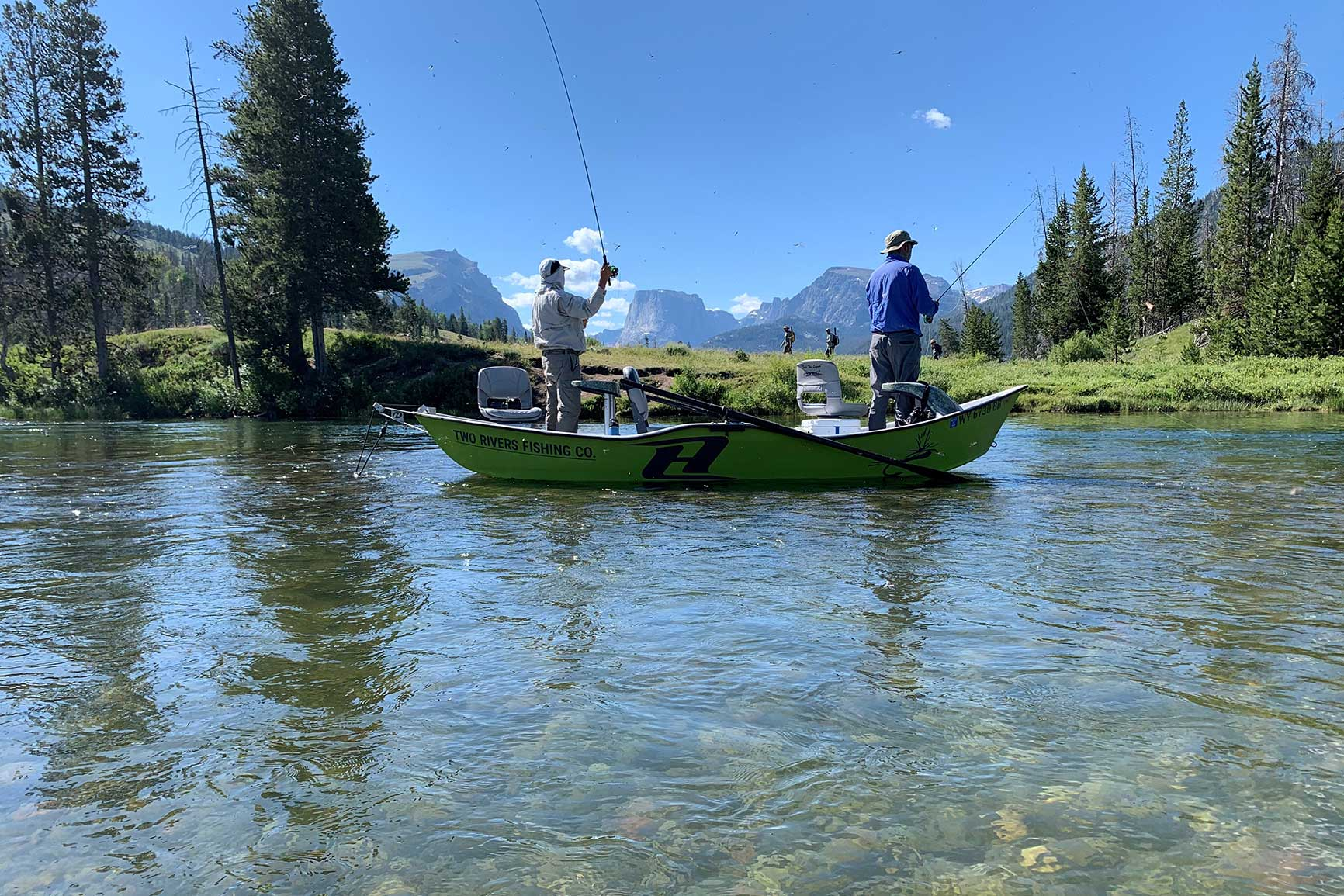 Pinedale, Green River, Wyoming, Trout Fishing, Two Rivers CO.