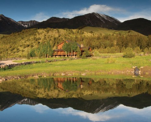 Yellowstone River Lodge Pond Reflection