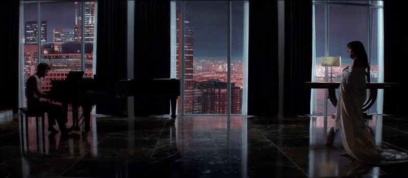 Screenshot from the Fifty Shades of Grey trailer