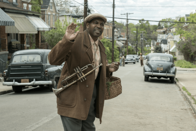 Gabriel Maxson, played by Mykelti Williamson, is pictured in a scene from the 2016 Denzel Washington film, Fences.