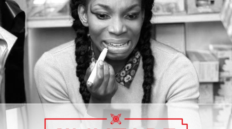 reelydope netflix flixtape lockup image of michaela coel in the bbc tv show chewing gum
