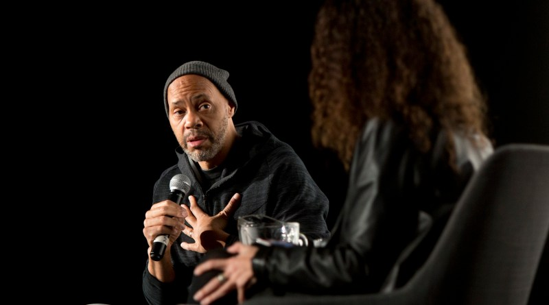 Academy award-winning screenwriter, director, producer, and novelist John Ridley onstage at the Alamo Drafthouse New Mission for A TRIBUTE TO JOHN RIDLEY: GUERRILLA at the 2017 SFFILM Festival, presented by SFFILM. April 12, 2017.