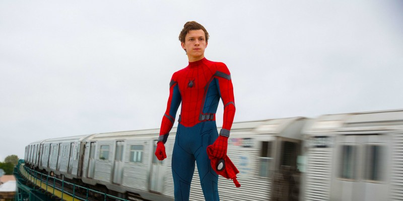 Pictured: Tom Holland as Spider-Man in the 2017 Marvel/Disney superhero film, Spider-Man: Homecoming.