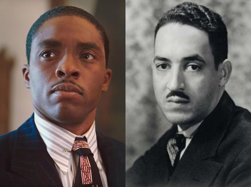 Picture L-R: Chadwick Boseman as Thurgood Marshall, Thurgood Marshall as...Thurgood Marshall.