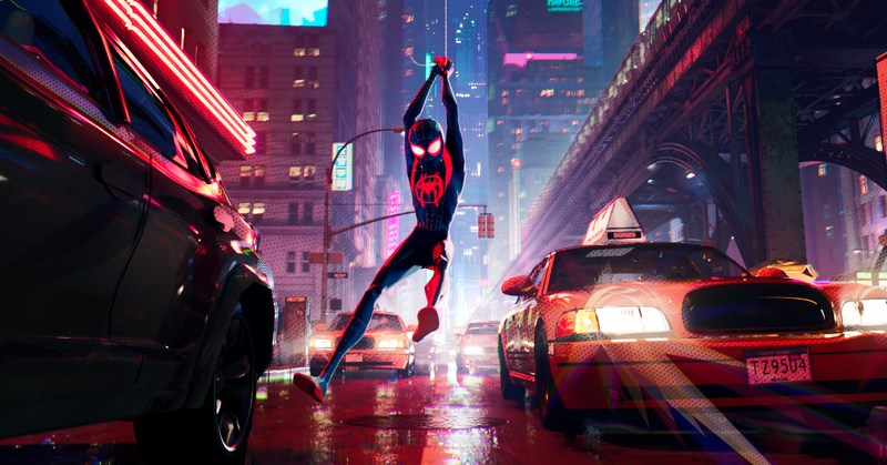 Miles Morales swings through Manhattan in Spider-Man: Into The Spider-Verse
