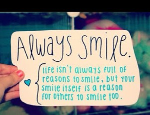 What makes me smile?