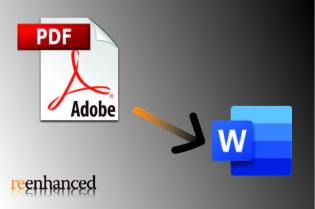 Document conversion from PDF to Word