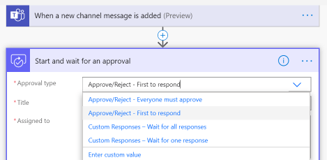 First, select your Approval Type.