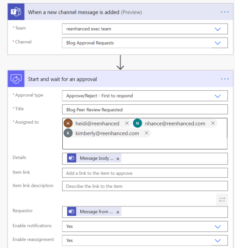 Add Title, Assigned to and additional optional fields to your Approval.