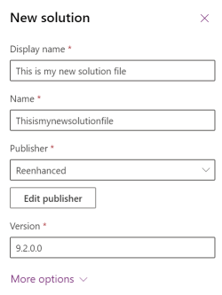 Adding solution file in PowerApps