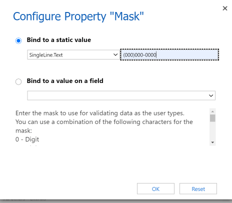Configure the mask