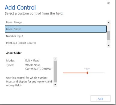 Select Linear Slider