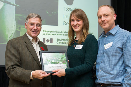 Regional Chair Ken Seiling presents Energy award to Kristina and Jason Taylor of Baden
