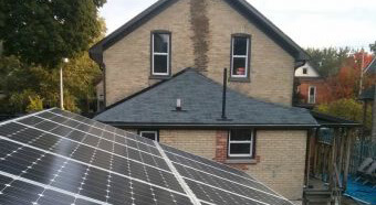 Central Frederick Resilience Walk: house with solar panels