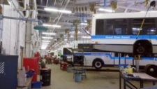 Maintenance of the GRT fleet of buses at the Strasburg Operations Centre.