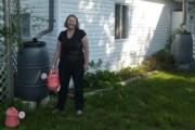 Natalia and her rain barrels