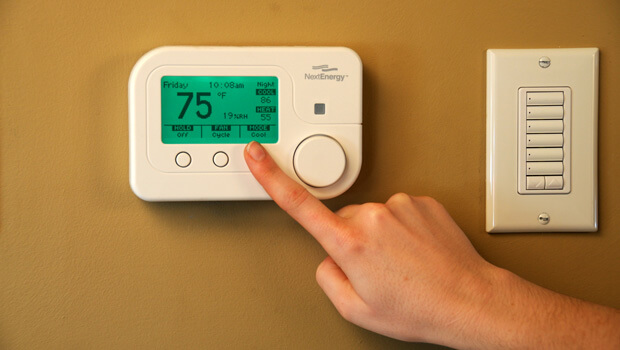 Programmable thermostat at REEP House
