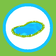 pond in circle