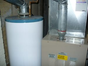 vented water heater and furnace