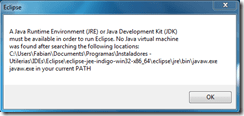 [Solución?] Not Java virtual machine was found… en eclipse. (1/3)