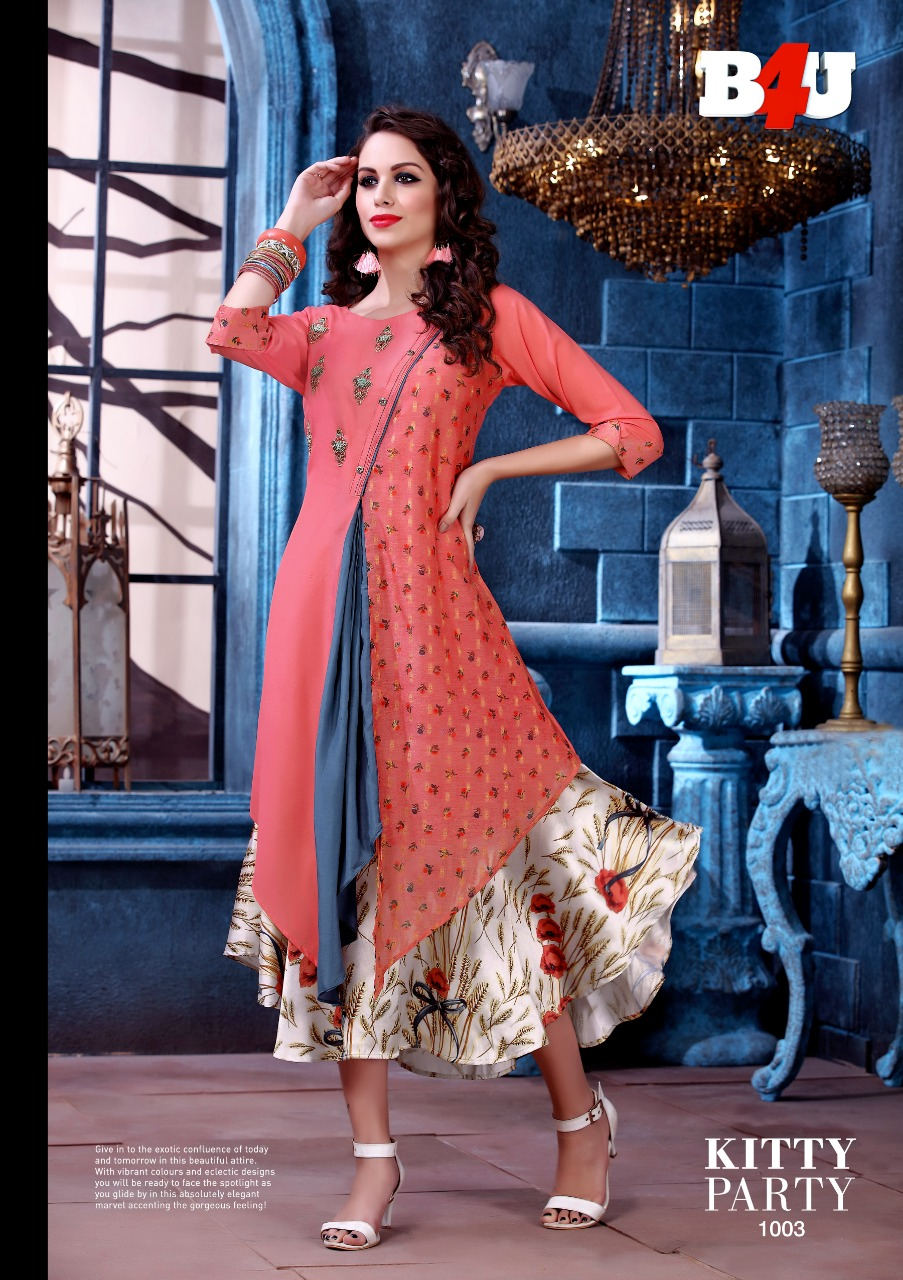 1481f353a8 B4U PRESENTS KITTY PARTY PARTY WEAR FESTIVE KURTIS COLLECTION ...