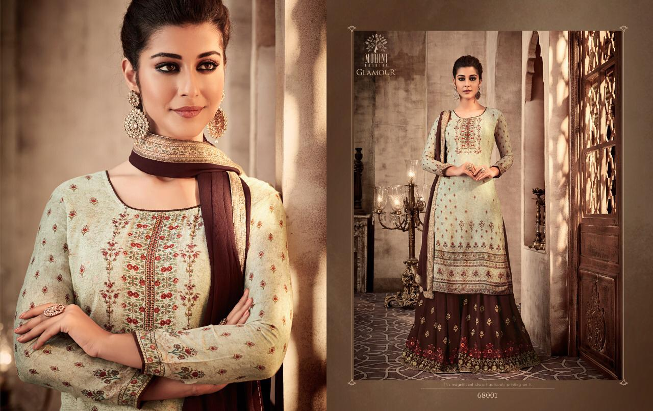 8f3e6a1527 GLAMOUR VOL 68 BY MOHINI FASHION 68001-68004 SERIES EMBROIDERED SHARARA  SUITS