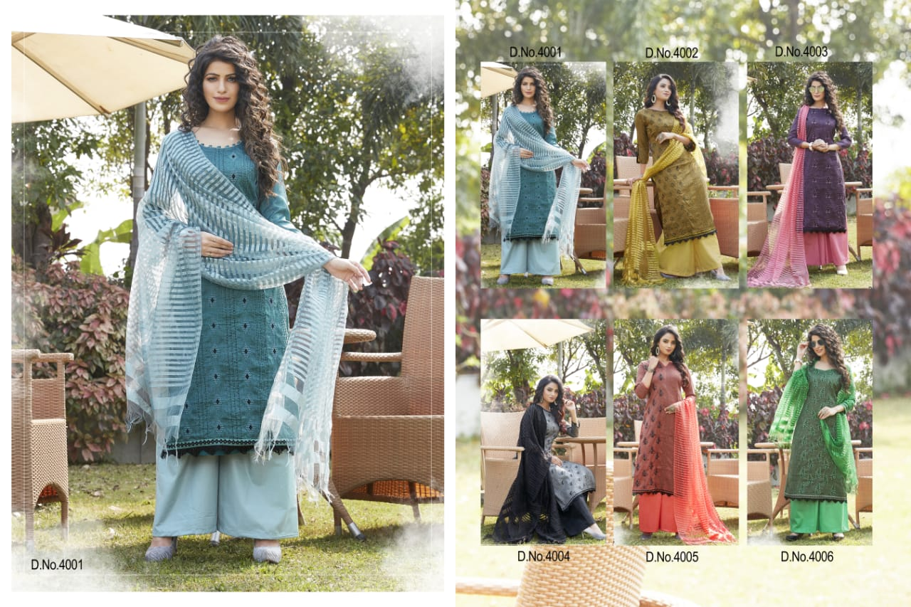 Koinor Eetbank Bottom.Libaas Launch Kohinoor Cotton Formal Wear Plazzo Style Salwar Suit