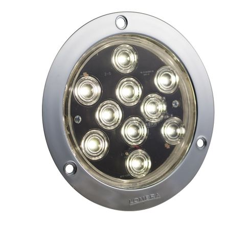 PLAFON 10 LEDS 4″ ABS CROMADO