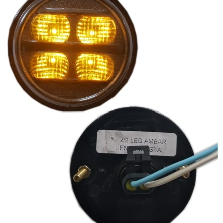 PLAFON 12/24V LED AMBAR M/CRI 70MM
