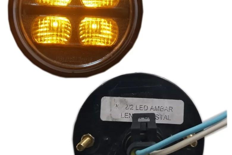 PLAFON 12/24V LED AMBAR M/CRI 70MM