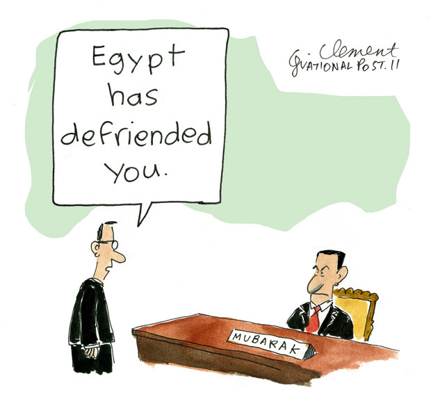 Egypt has defriended you cartoon