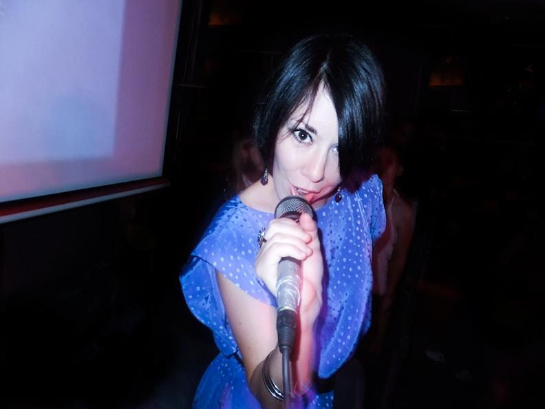 refashionista at karaoke