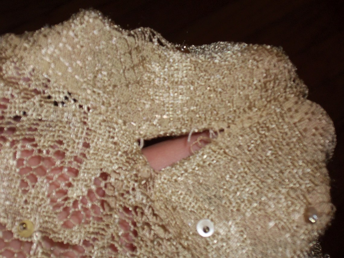 Day 93: Sequins and Lace Top 1