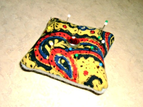 Day 168:  Scrap Bustin' Pin Cushion 3