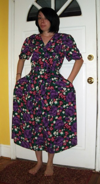 Day 194:  Flowers for a Rainy Day Dress 2
