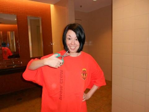 Day 212:  A'dress'ing a Too-Big Tee!  :) 4