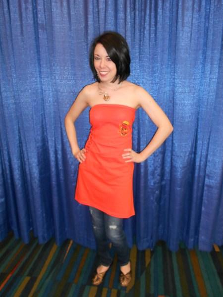 Day 212:  A'dress'ing a Too-Big Tee!  :) 8