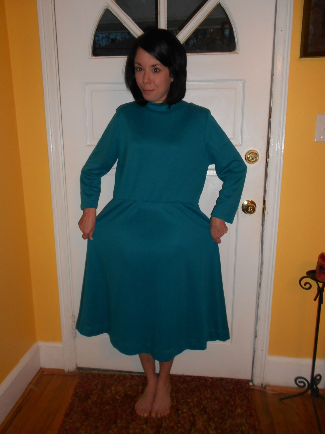 Day 256:  Teal Day Dress 1
