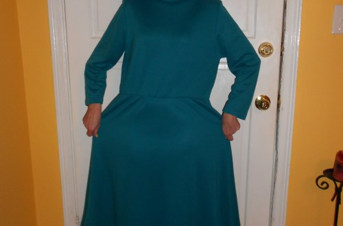 Day 256:  Teal Day Dress 7