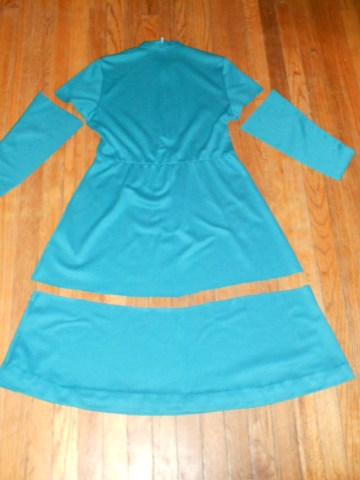 Day 256:  Teal Day Dress 4