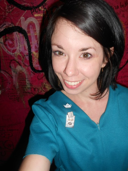 Day 256:  Teal Day Dress 6