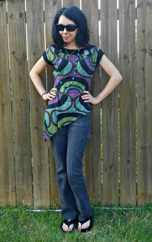 Day 357:  Grown Up Enough: A Dress to Asymmetrical Top Refashion 6