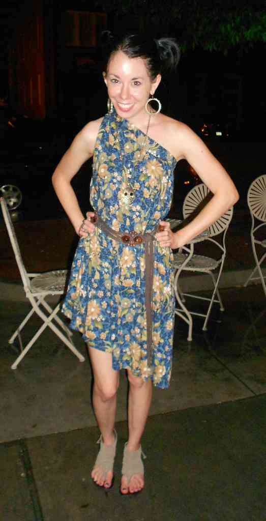 skirt to dress refashion after